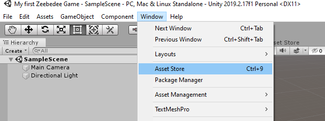 Unity | Asset Store selector