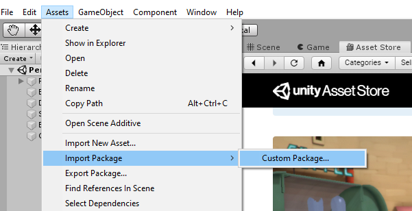 Unity | Importing Custom Package
